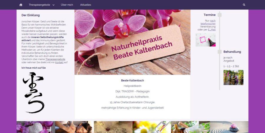 Naturheilpraxis Beate Kaltenbach - Homepages 4U - Creative Webdesign