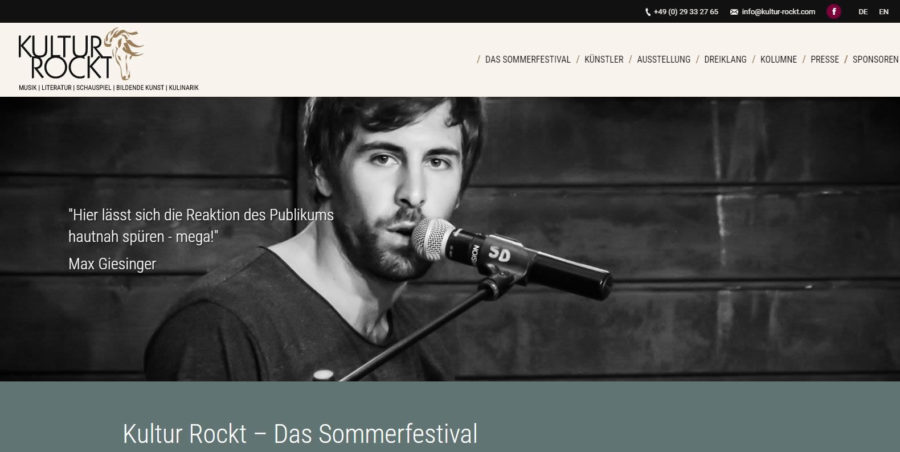 Kultur Rockt -Homepages 4U - Creative Webdesign