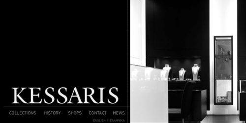 website presenting the profile and collection of KESSARIS GROUP